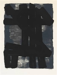 lithographie no. 6 by pierre soulages
