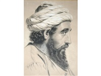 portrait study: head of an arab by anthony frederick augustus sandys