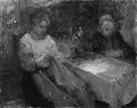 zwei frauen bei der handarbeit by emmanuel spitzer