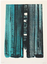 lithographie no by pierre soulages