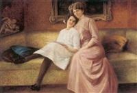 mor og datter i sofaen by gertha elisabeth thiele