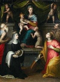 thronende madonna mit heiligen by andrea (andrea del salerno) sabatini