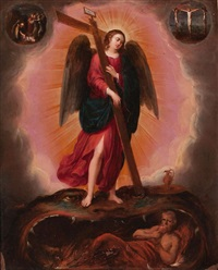 ángeles con atributos de la pasión (pair) by pieter lisaert