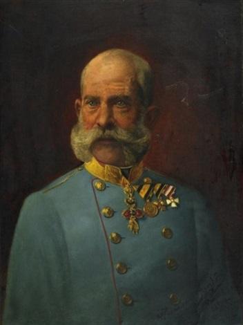 halbporträt des kaiser franz josef i österreichungarn by herrmann philipp junker the elder
