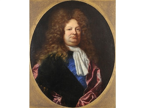 portrait of a gentleman identified as charles gaspard dodun mmarquis dherbault 1679 1736 french statesman and minister of finance by joseph vivien