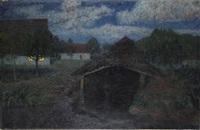 mondnacht iii - seehausen by fritz overbeck