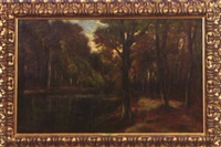 herbstwald am see by frits mondriaan