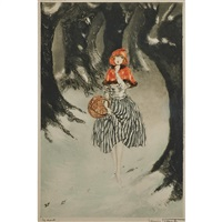red riding hood by louis icart