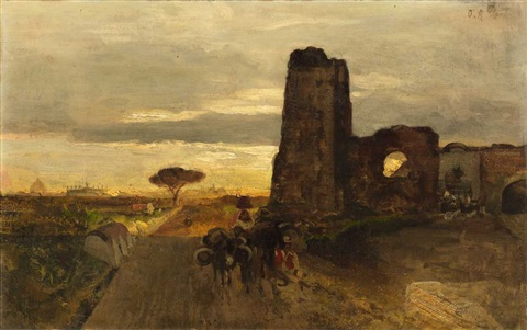 a well on the via appia oil study by oswald achenbach