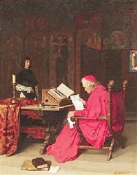 audienz beim kardinal by franz meyerheim