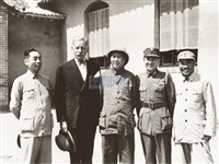 mao with american ambassador in yan'an by xu xiaobing