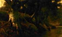 baum bestandenes bachufer by charles gibbs