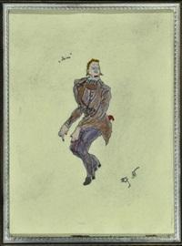 blonder herr im lilafarbenen anzug by vladimir tatlin