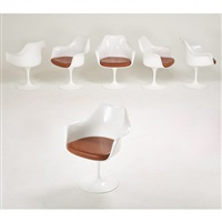 six tulip armchairs by eero saarinen