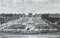 16 ansichten der schlosser und gartenanlagen von      nymphenburg, schleissheim und furstenried by johann august corvinus
