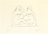 deux nus (two nudes) by henri laurens