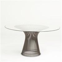 pedestal dining table by warren platner