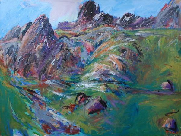 paysage de montagne by pierre yves gabioud