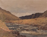 river landscape, argyll by george houston