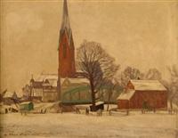 dorf im winter by max köcke-wichmann