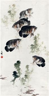 鱼乐图 (fish) by liang zhanfeng