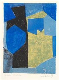 composition bleue, noire et jaune by serge poliakoff