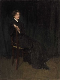 portrait of a sitting lady by august l. m. neven du mont