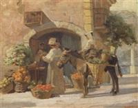 fra en frugtbod på capri, italien by carl forup