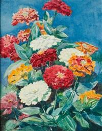 zinnias by katharine cameron