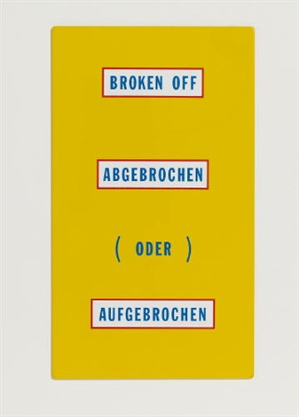 broken off abgebrochen by lawrence weiner