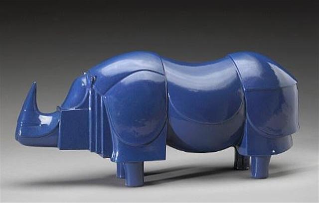 Rhinocéros bleu by François-Xavier Lalanne on artnet