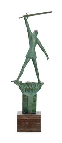 skiss till monument över engelbrekt by carl wilhelm emile milles