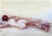 reclining nude by stephen ward