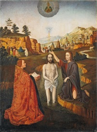 taufe christi by gerard david