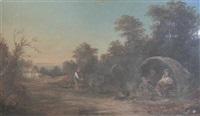 a gypsy encampment by j. turner