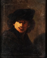 selbstbildnis rembrandts by carl gustav hermann kluge
