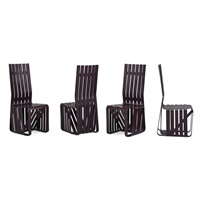 set of four high sticking chairs by frank gehry