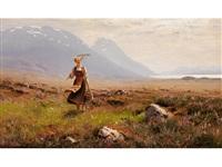 junges mädchen in den bergen by hans dahl