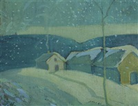 winter homestead, the laurentians by frank charles hennessey