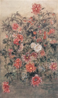 大理菊 (chrysanthemums) by liu hui
