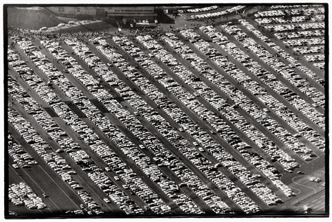 parking lot san francisco baseball stadium by ed van der elsken