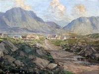 cottages in connemara by rowland henry hill