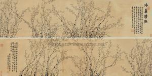 冷香清艳 plum blossom by jin nong