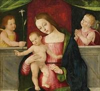 maria mit dem jesusknaben und zwei putten by alberto piazza