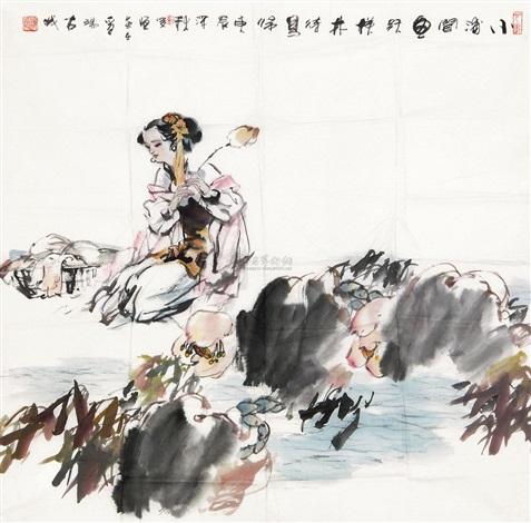 荷塘伊人图 by cui junheng