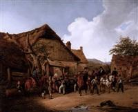 soldaten im dorf by karl wilhelm von heideck