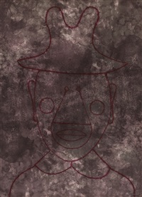 head with hat (sold with 160b; set of 2) by rufino tamayo