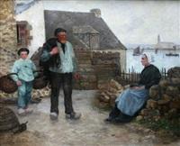 camaret, famille de pêcheurs by charles cottet