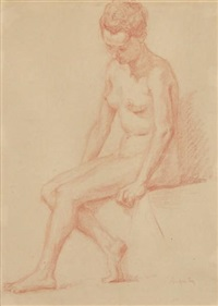 femme assise by louis anquetin