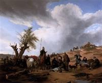 russische und polnische kavallerie im feldlager by karl wilhelm von heideck